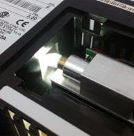 Panelview 550 LED bulb and Fiber optics