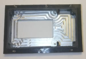 PV550 B and K front bezel (back view)