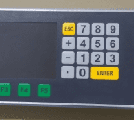 SCA controller keypad