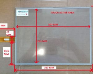 Panelview 1500 Plus touchscreen dimensions